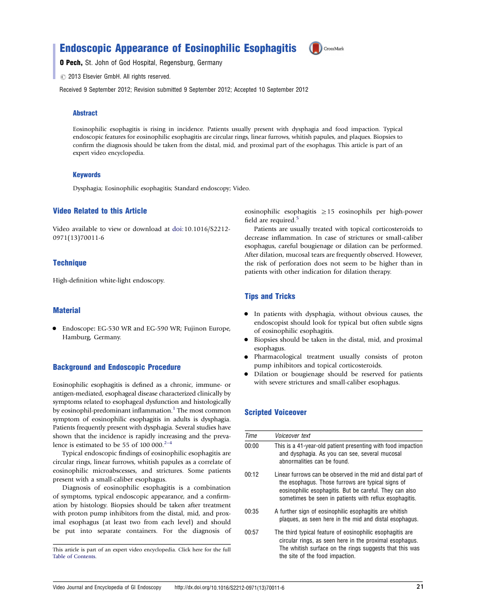 Endoscopic Appearance Of Eosinophilic Esophagitis Topic Of