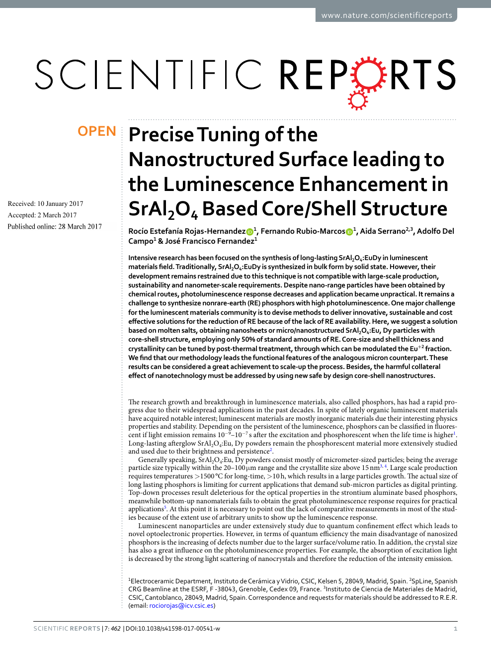 Precise Tuning of the Nanostructured Surface leading to the
