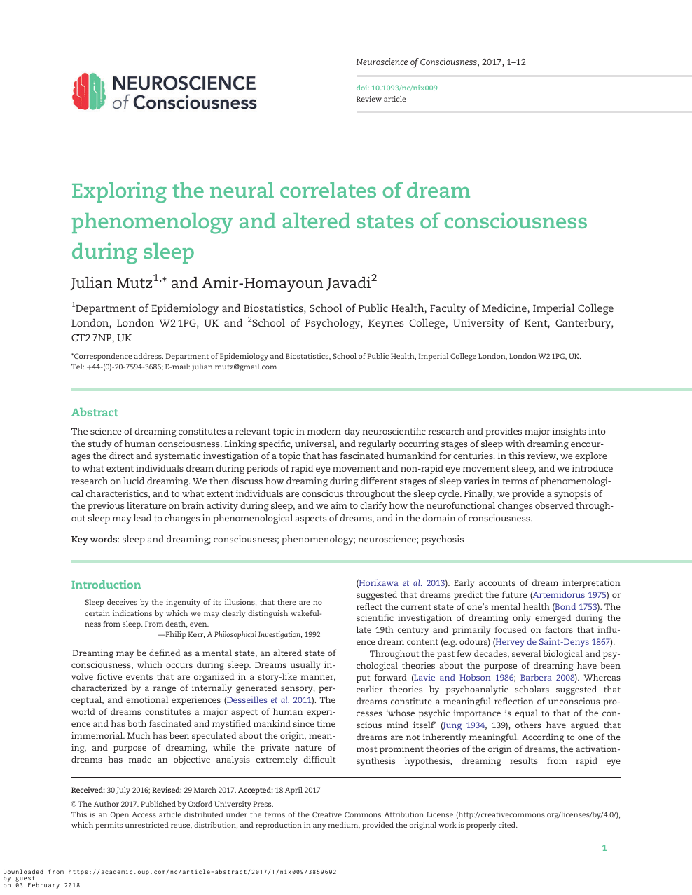 Exploring the neural correlates of dream phenomenology and