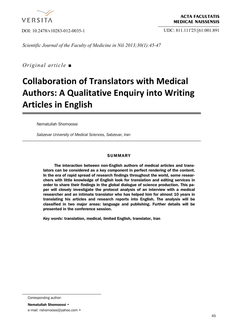 7115ea184149 Collaboration of Translators with Medical Authors  A Qualitative ...