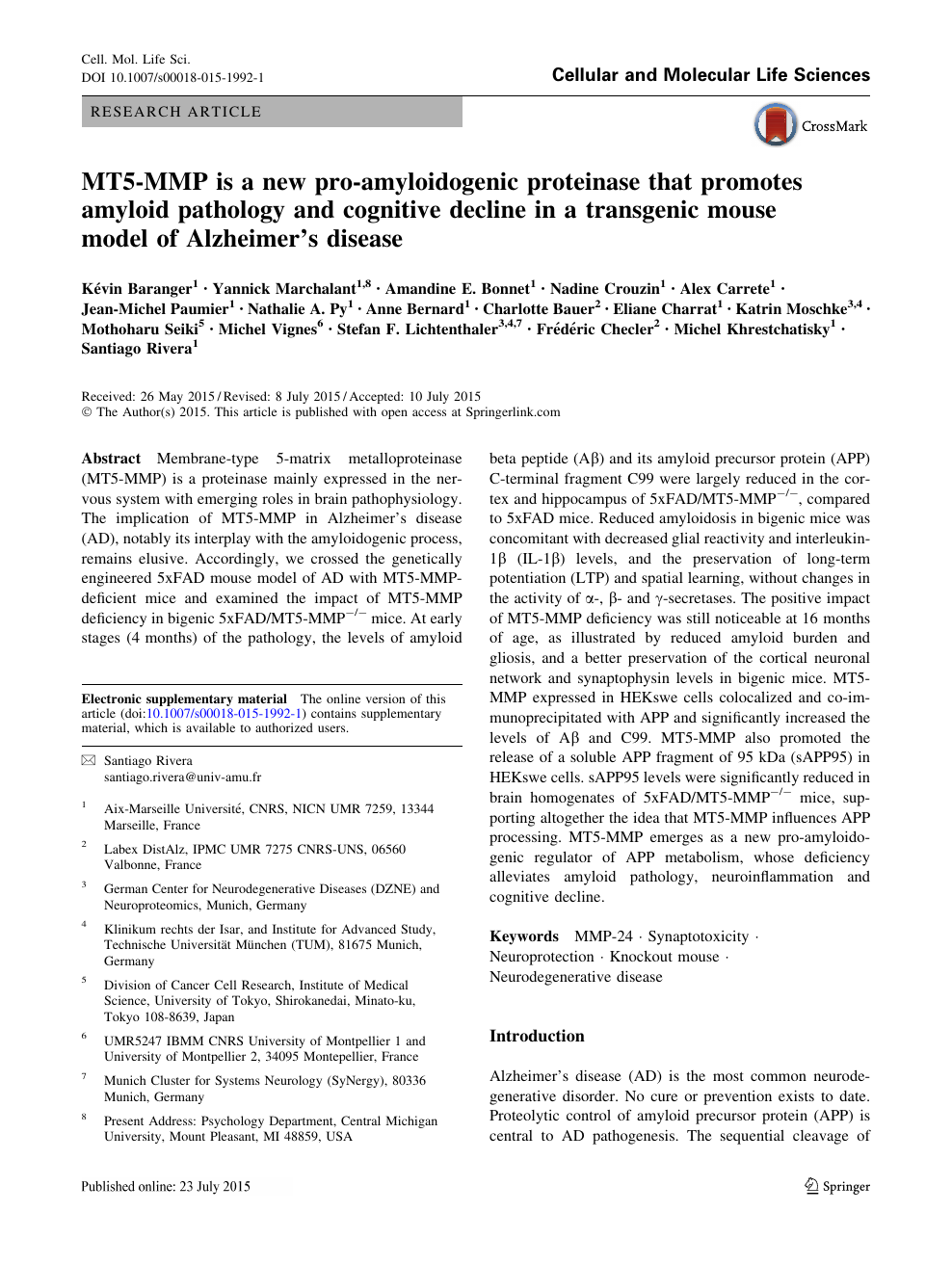 MT5-MMP is a new pro-amyloidogenic proteinase that promotes