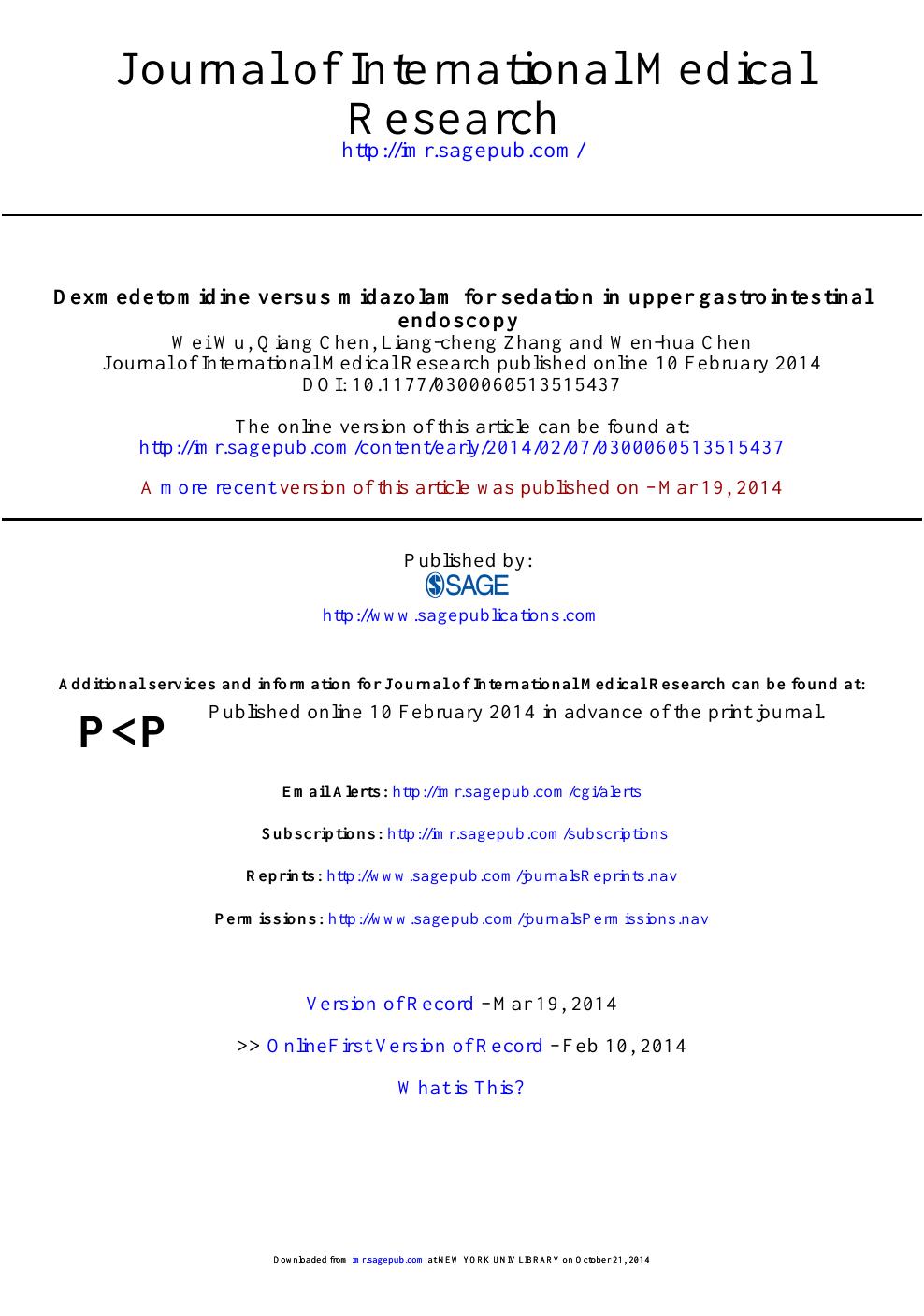 Dexmedetomidine versus midazolam for sedation in upper