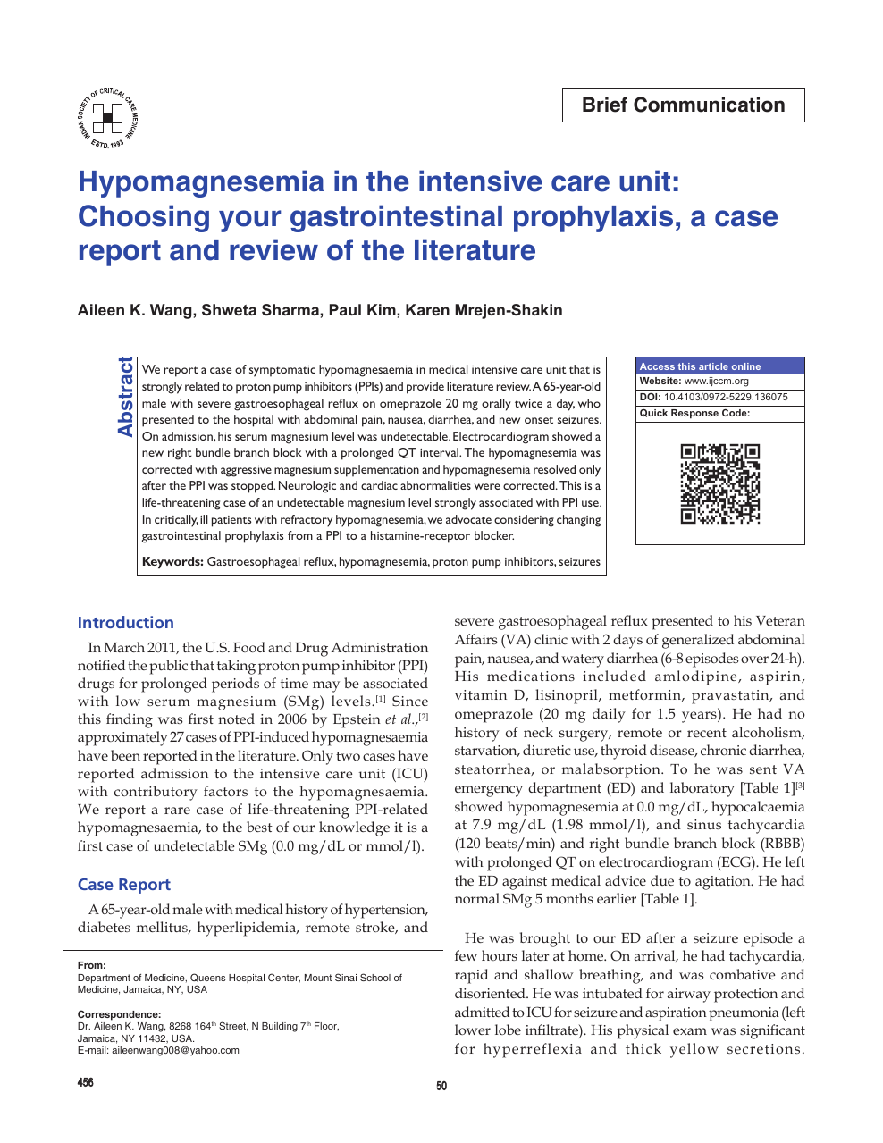 Hypomagnesemia in the intensive care unit: Choosing your
