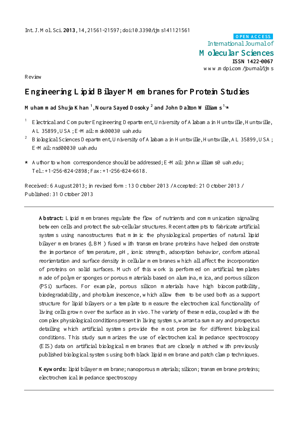 Angelika Baumgart engineering lipid bilayer membranes for protein studies