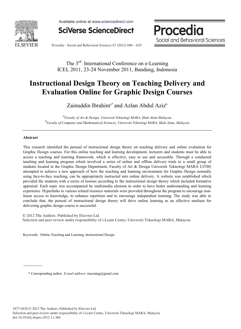 Instructional Design Theory on Teaching Delivery and