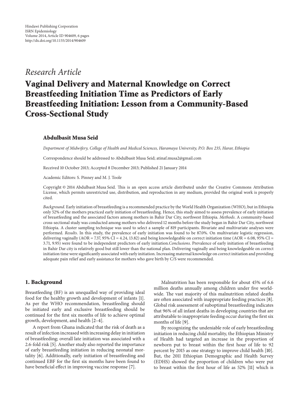 Vaginal Delivery and Maternal Knowledge on Correct Breastfeeding