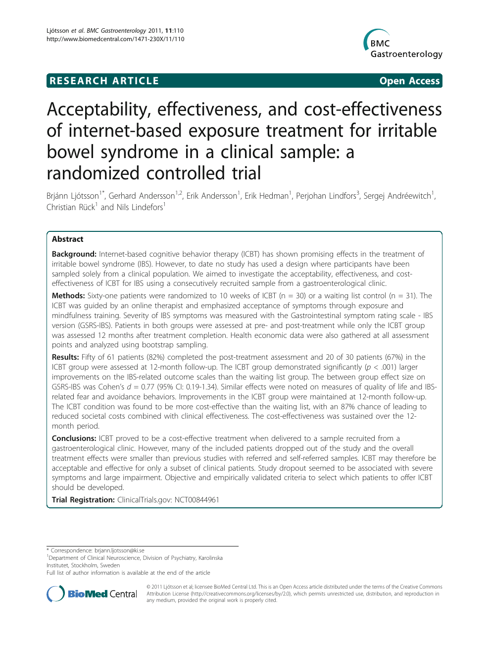 Acceptability, effectiveness, and cost-effectiveness of