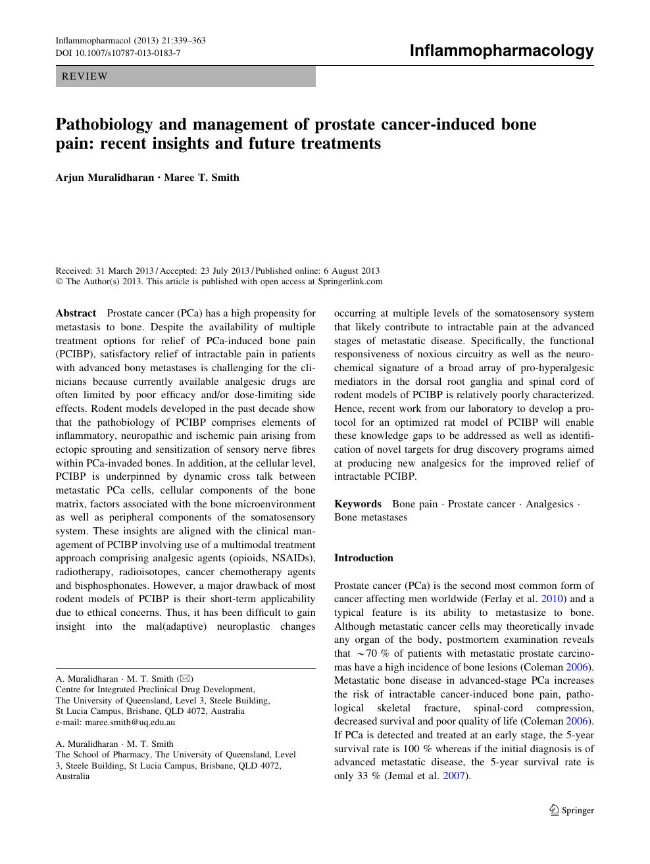 Pathobiology and management of prostate cancer-induced bone