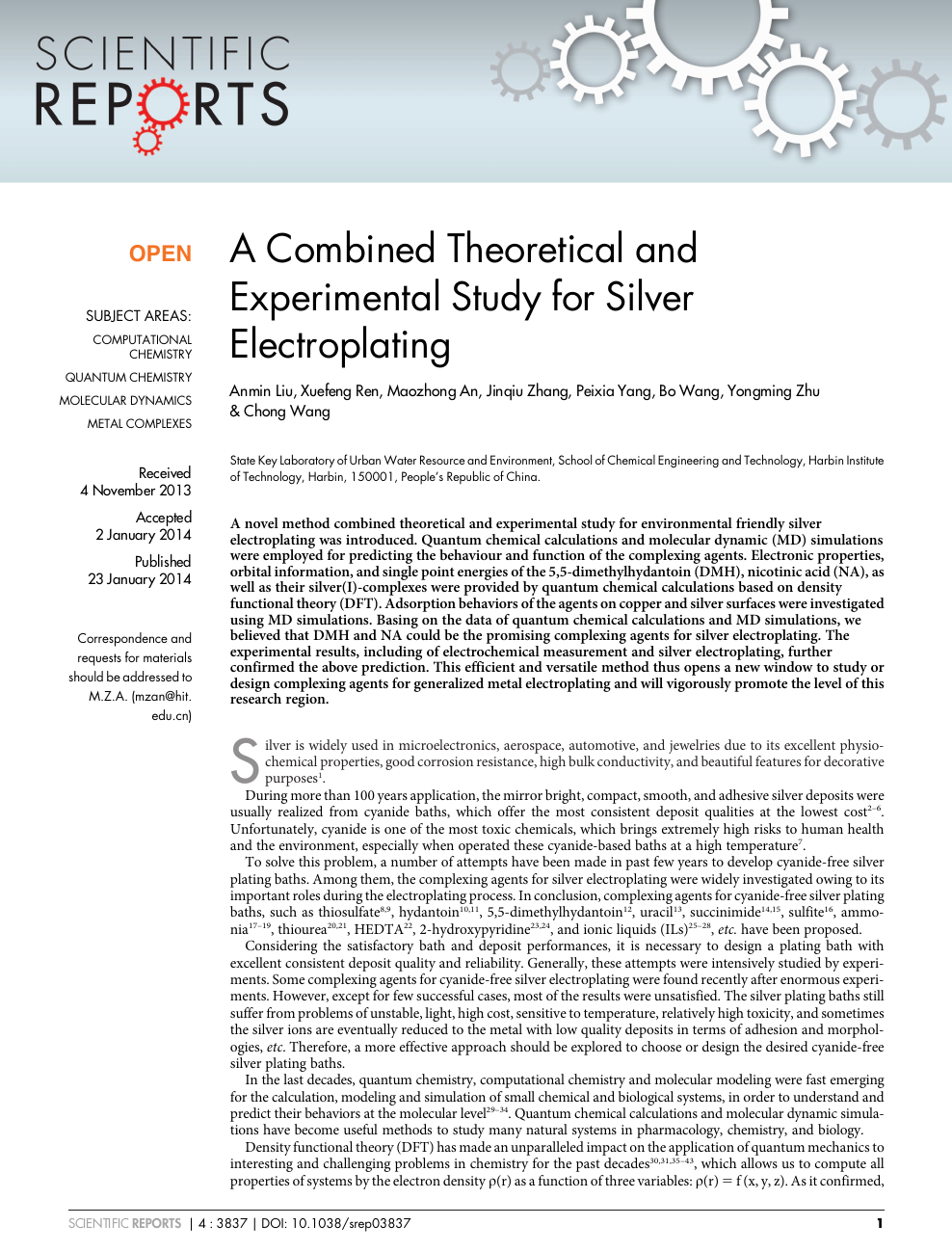 A Combined Theoretical and Experimental Study for Silver