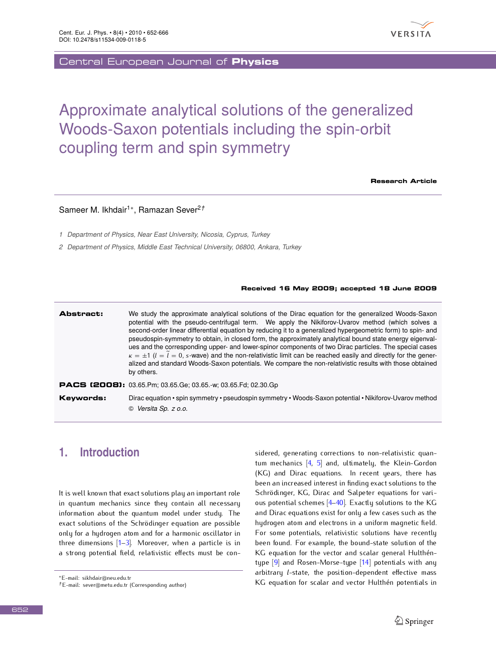 Approximate analytical solutions of the generalized Woods