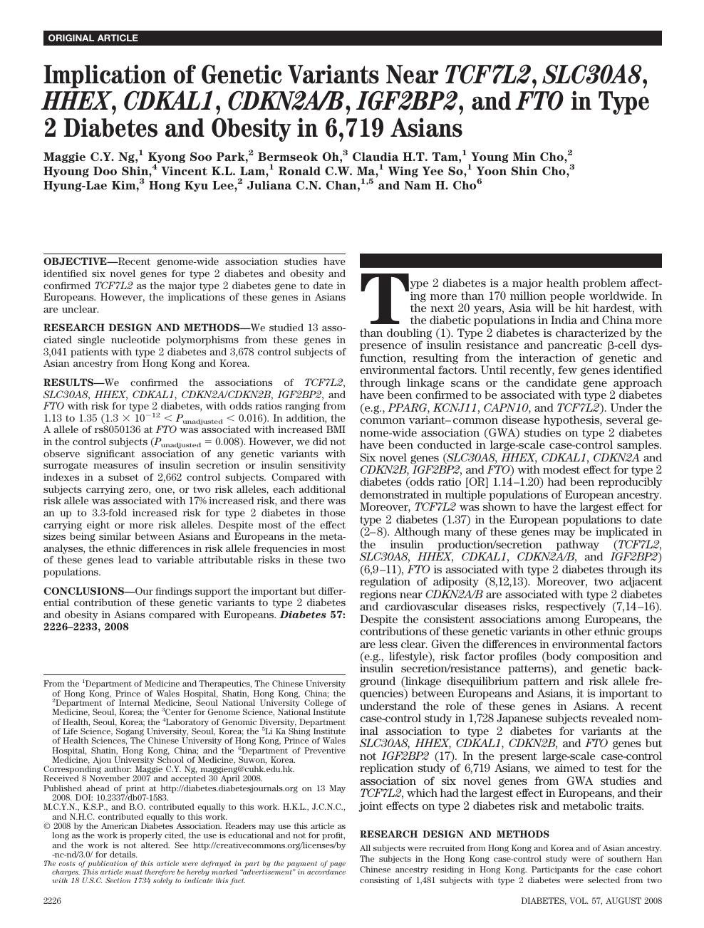 diabetes igf2bp2
