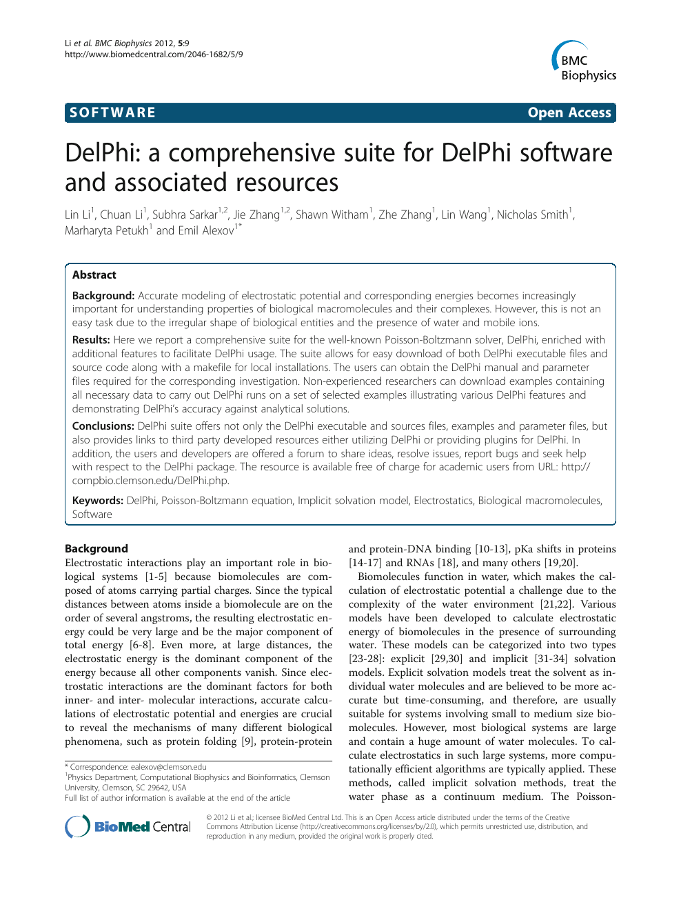 DelPhi: a comprehensive suite for DelPhi software and