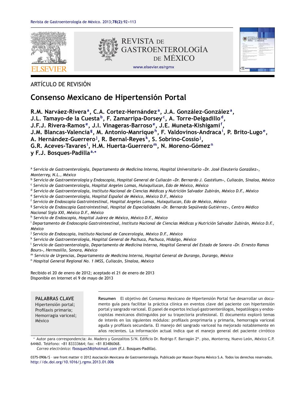 Nombrar las vías colaterales que se desarrollan en pacientes con hipertensión portal