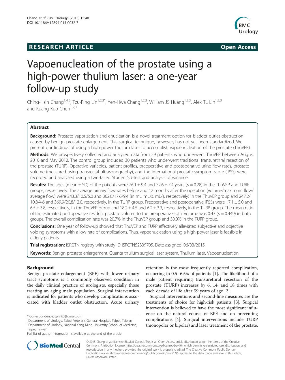 limite volume prostata per holep