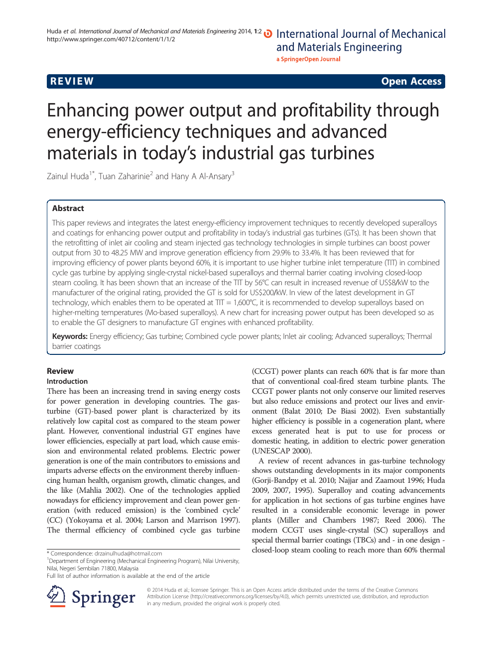 Enhancing power output and profitability through energy