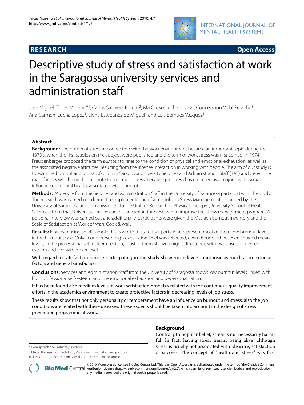 stress health term paper