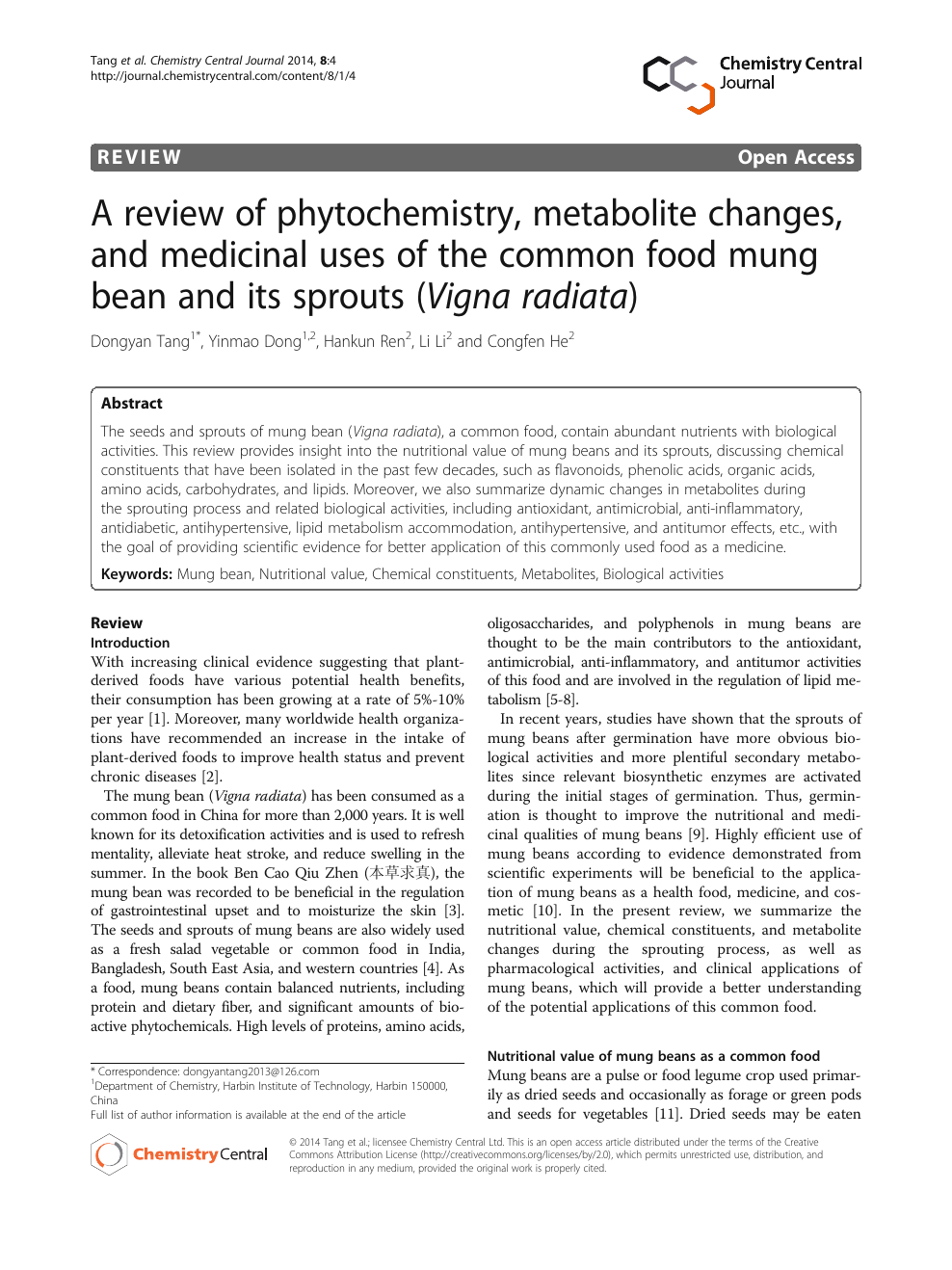 A review of phytochemistry, metabolite changes, and medicinal uses