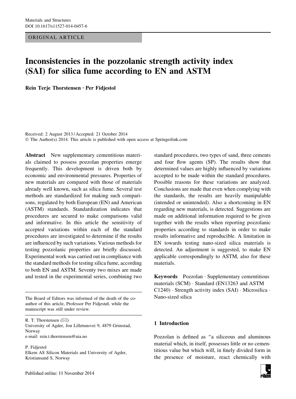 Inconsistencies in the pozzolanic strength activity index