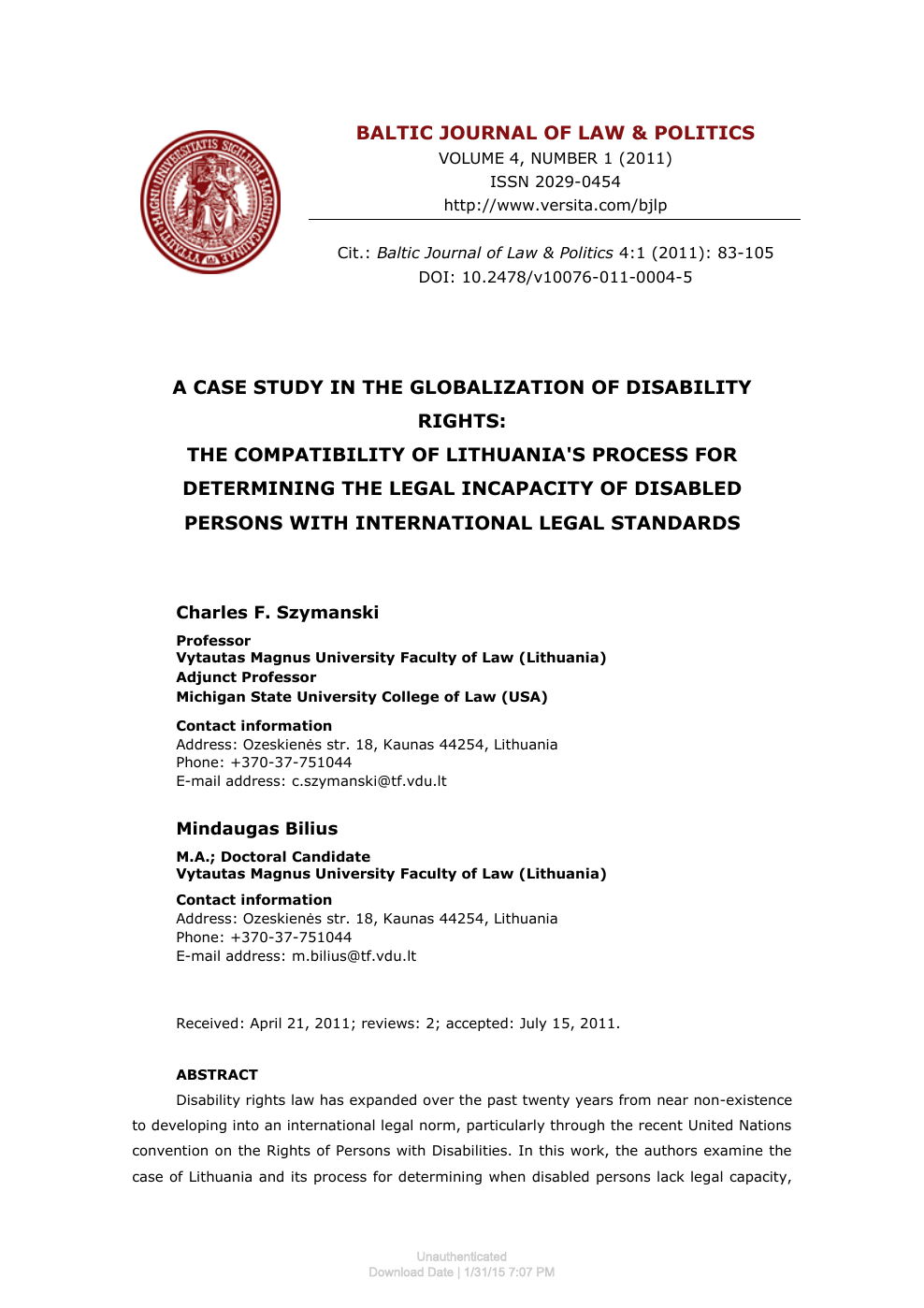 Lack Of College Disability Information >> A Case Study In The Globalization Of Disability Rights The