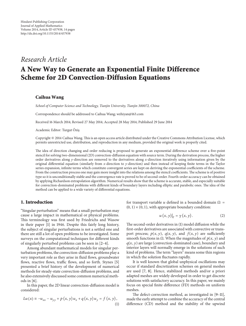 A New Way to Generate an Exponential Finite Difference