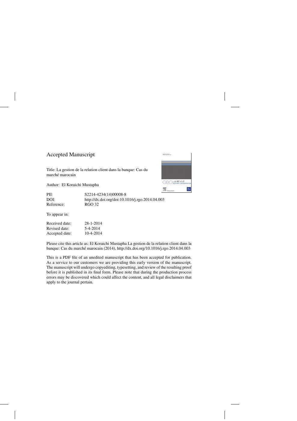 États Unis 100% qualité garantie conception populaire La gestion de la relation client dans la banque: Cas du ...