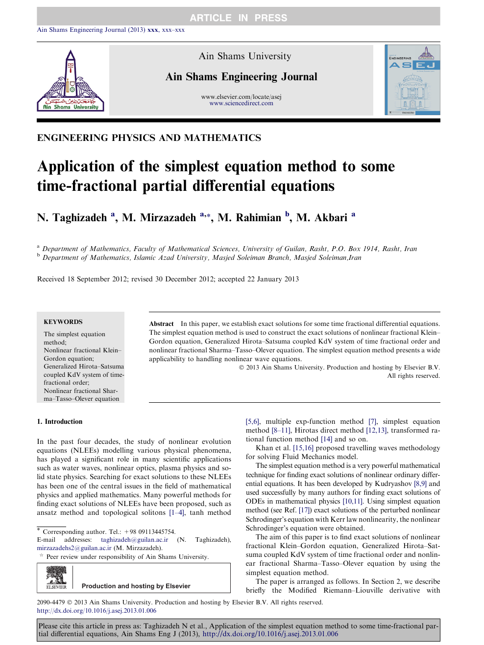 Application of the simplest equation method to some time