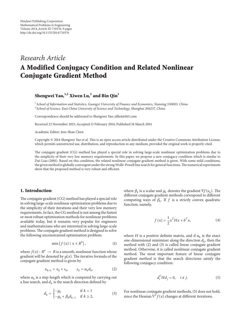 A Modified Conjugacy Condition and Related Nonlinear