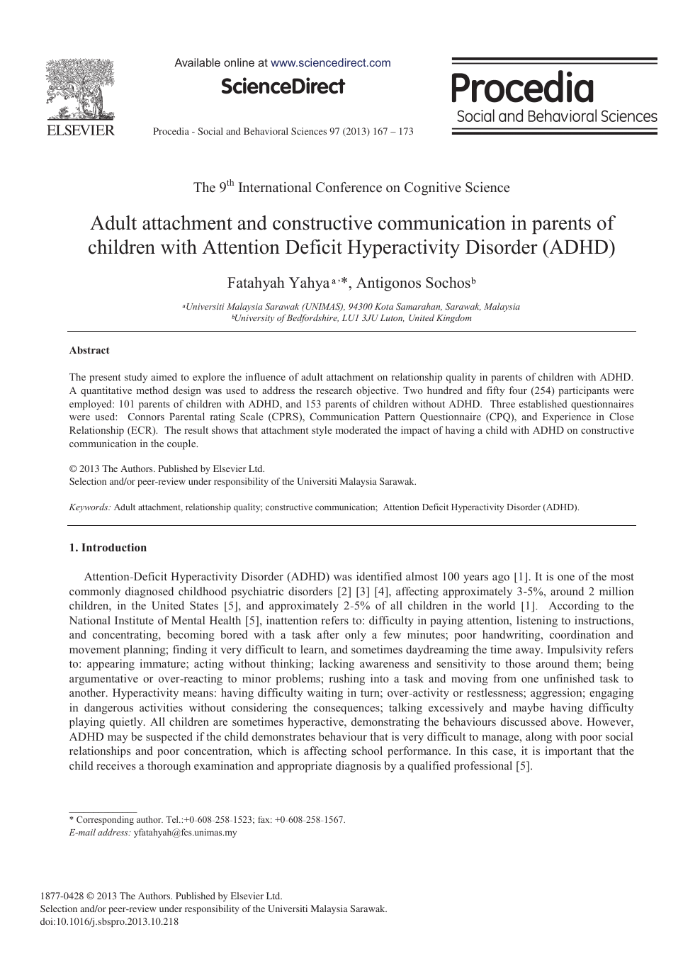 Adult Attachment and Constructive Communication in Parents