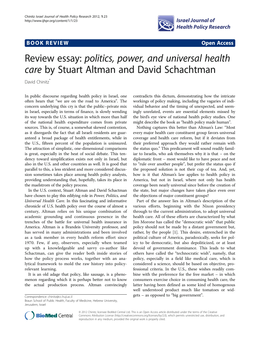 health policy paper topics