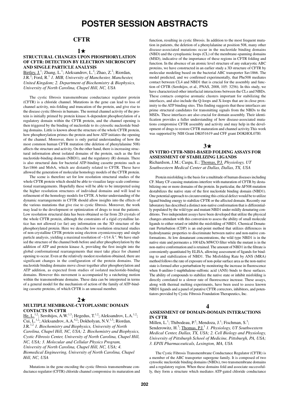 Poster Session Abstracts – topic of research paper in