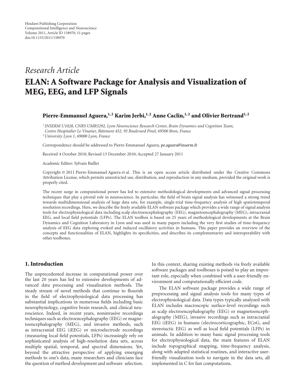 ELAN: A Software Package for Analysis and Visualization of