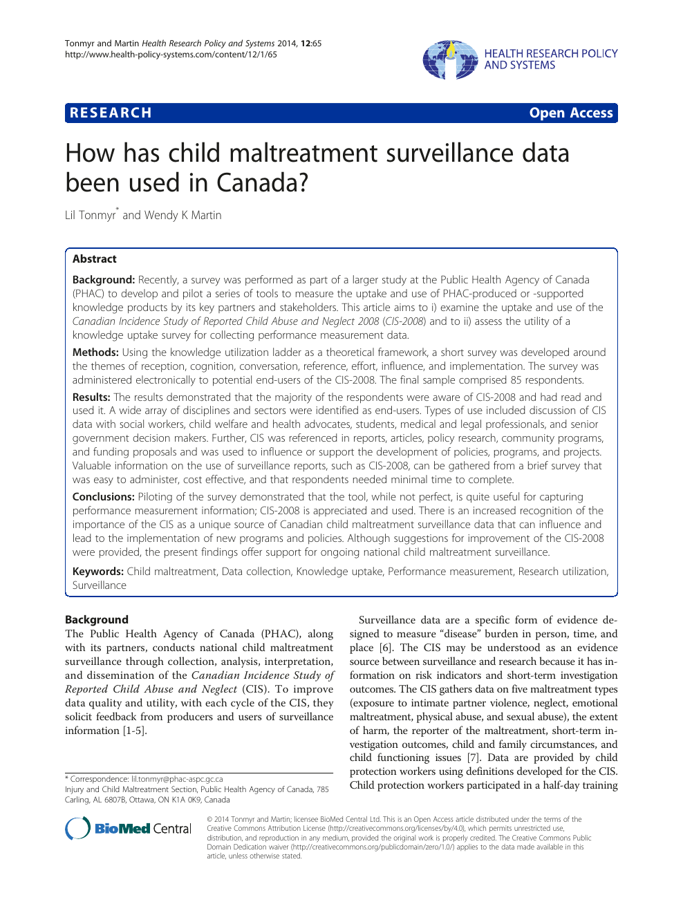 How has child maltreatment surveillance data been used in