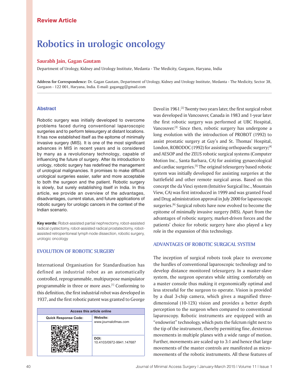 Robotics In Urologic Oncology Topic Of Research Paper In