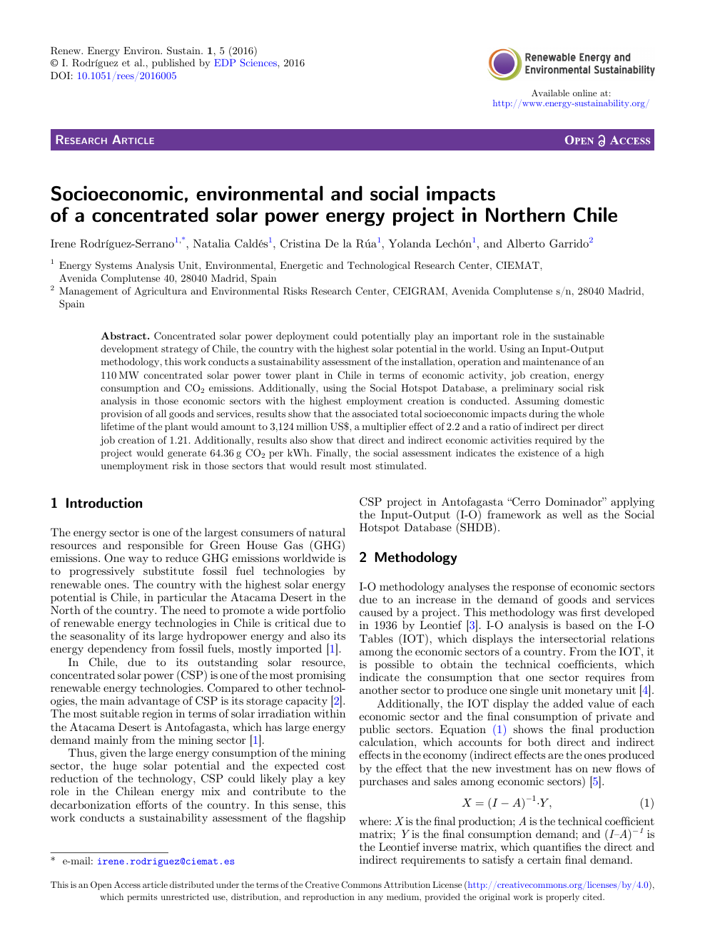 Socioeconomic, environmental and social impacts of a