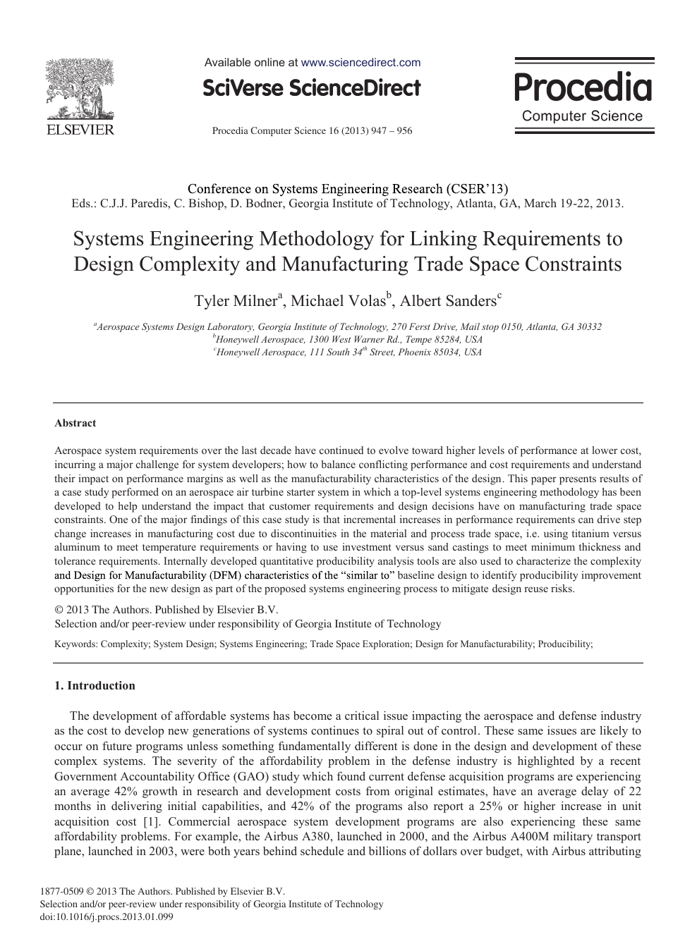 Systems Engineering Methodology for Linking Requirements to Design