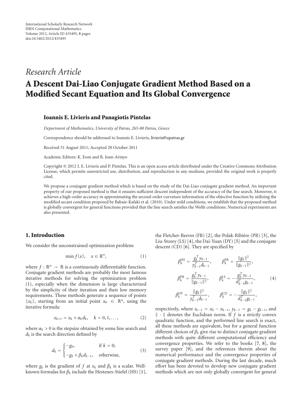 Modified secant method formula
