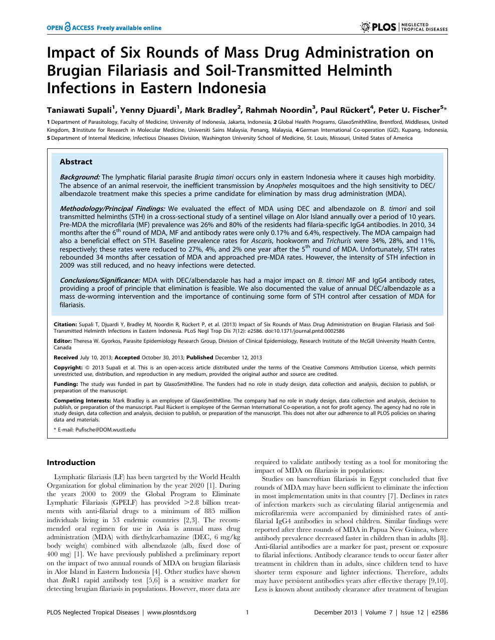 Helminth infection em portugues Helminth infections filariasis