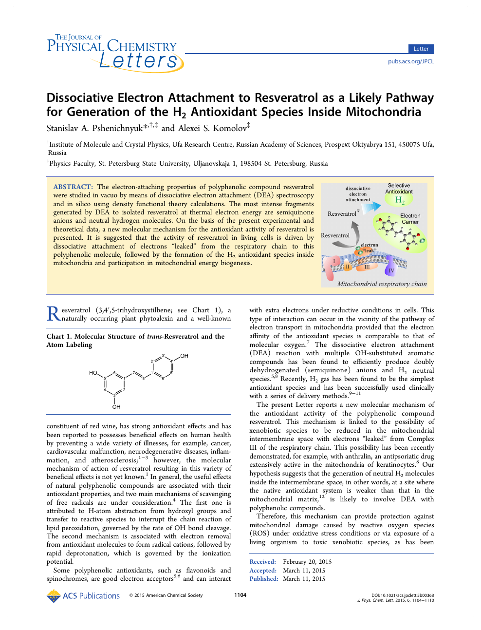 Dissociative Electron Attachment To Resveratrol As A Likely