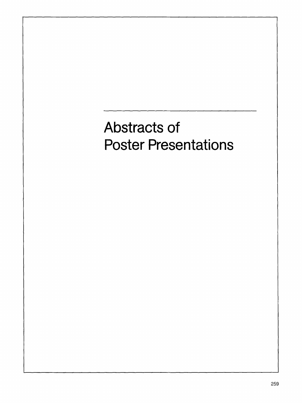 Abstracts of poster presentations – topic of research paper