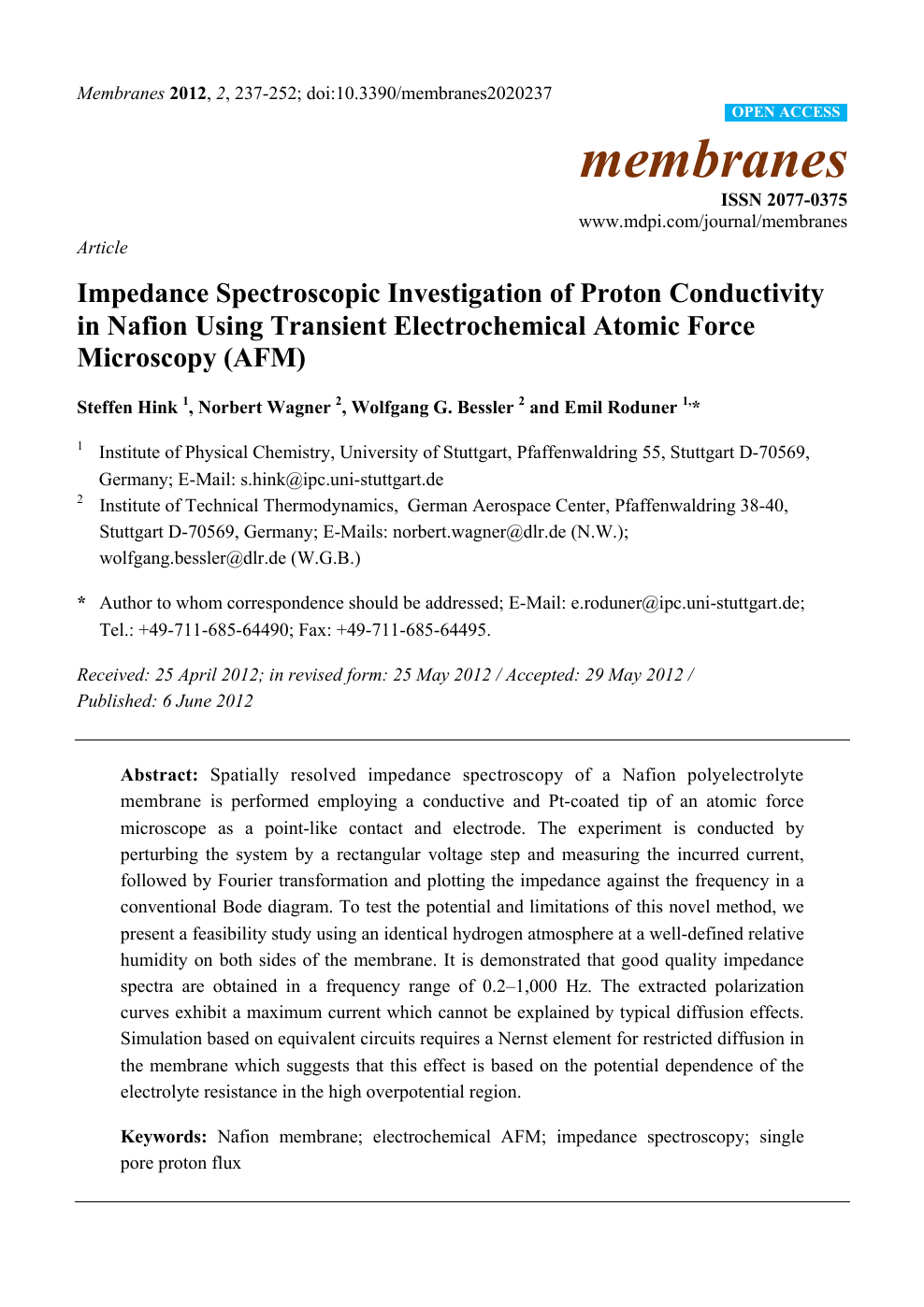 Impedance Spectroscopic Investigation of Proton Conductivity in
