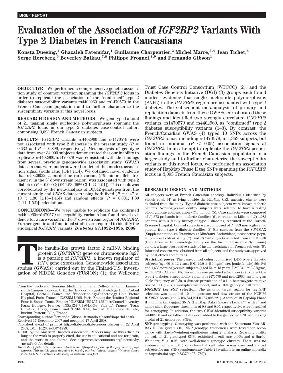 diabetes sante publique pdf