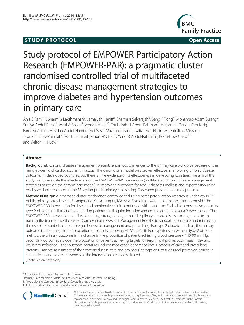 Study protocol of EMPOWER Participatory Action Research