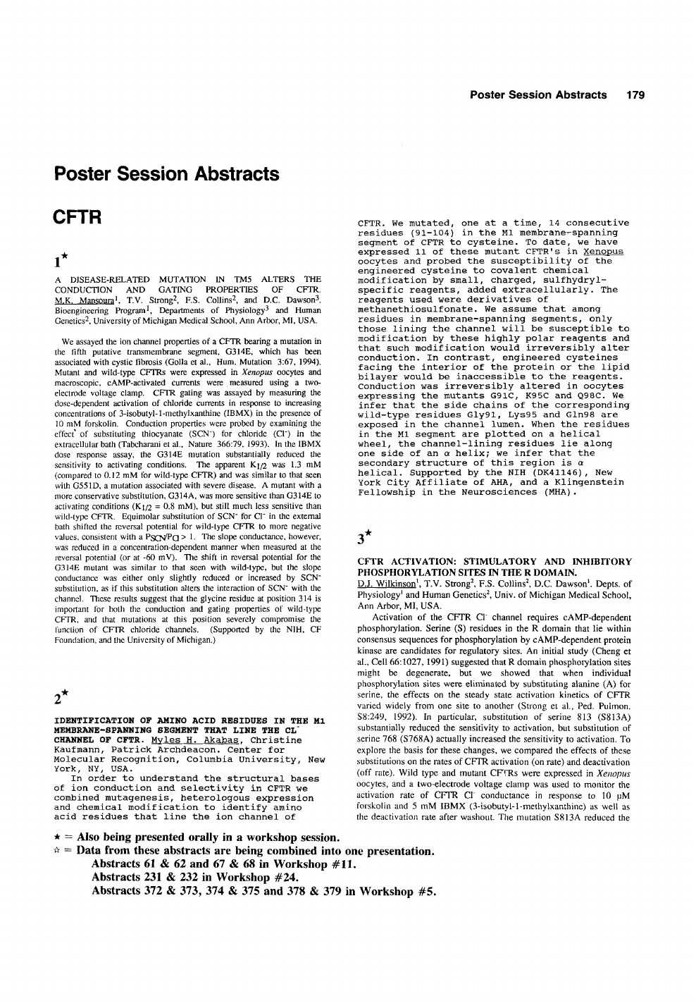 Poster session abstracts – topic of research paper in Biological