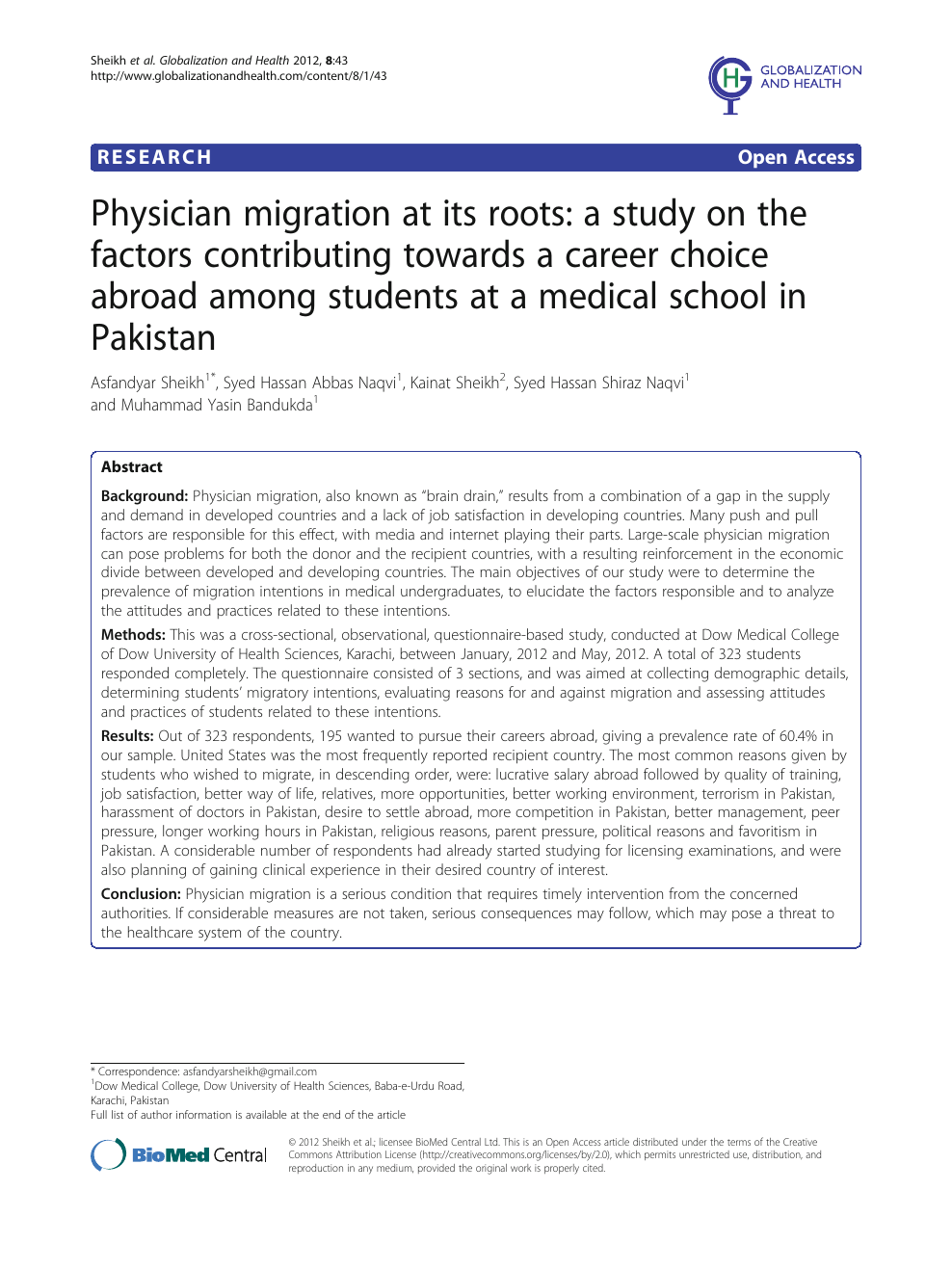 Medical Careers List >> Physician Migration At Its Roots A Study On The Factors