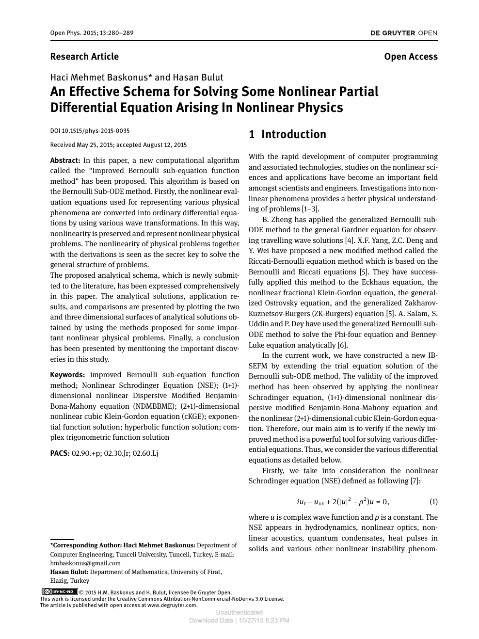 An Effective Schema for Solving Some Nonlinear Partial