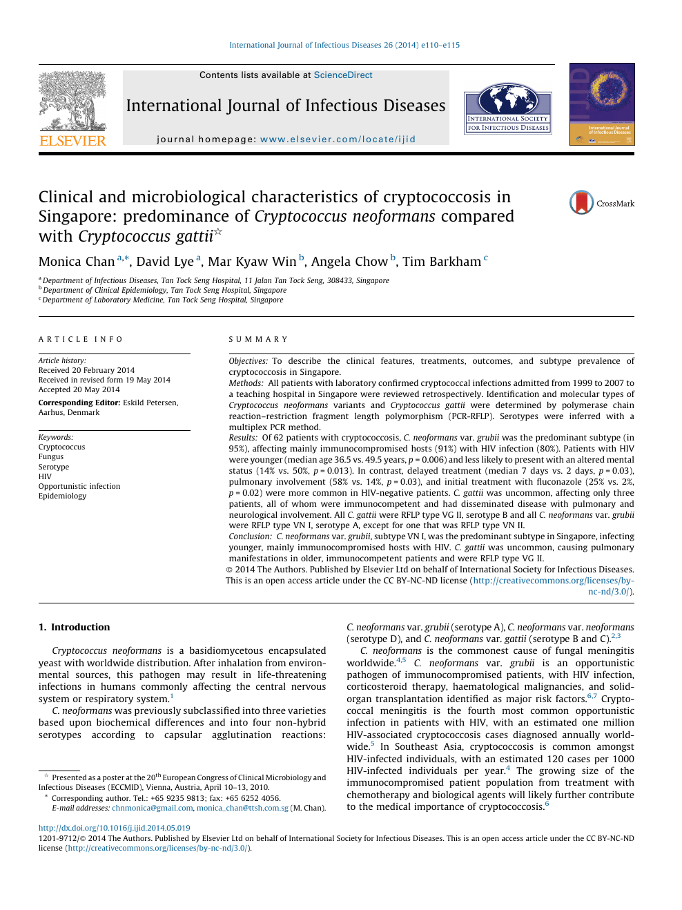 Clinical and microbiological characteristics of cryptococcosis in