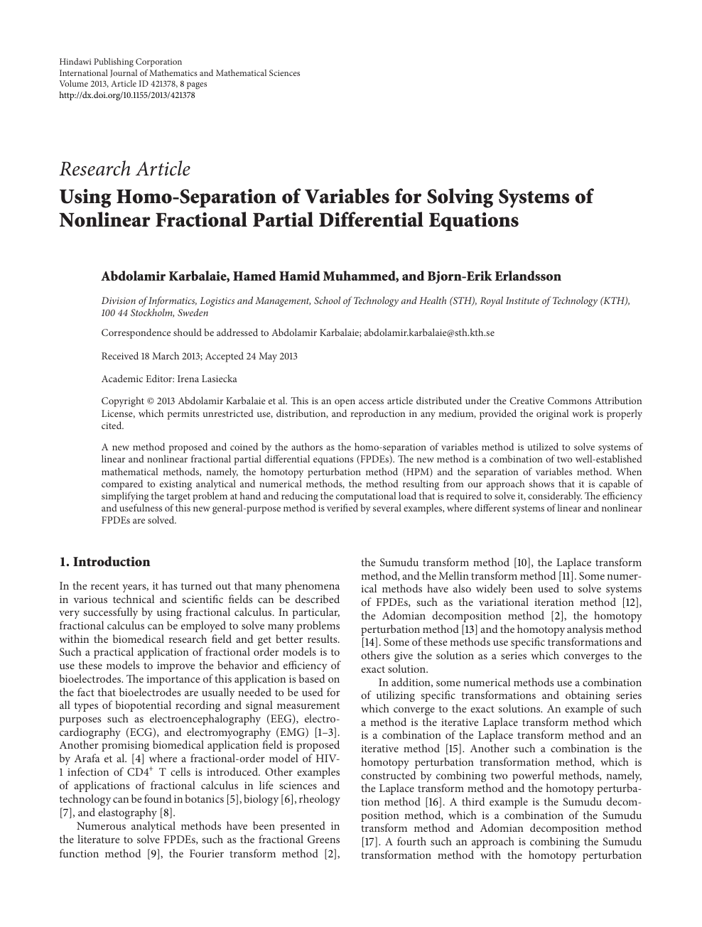 Using Homo-Separation of Variables for Solving Systems of Nonlinear