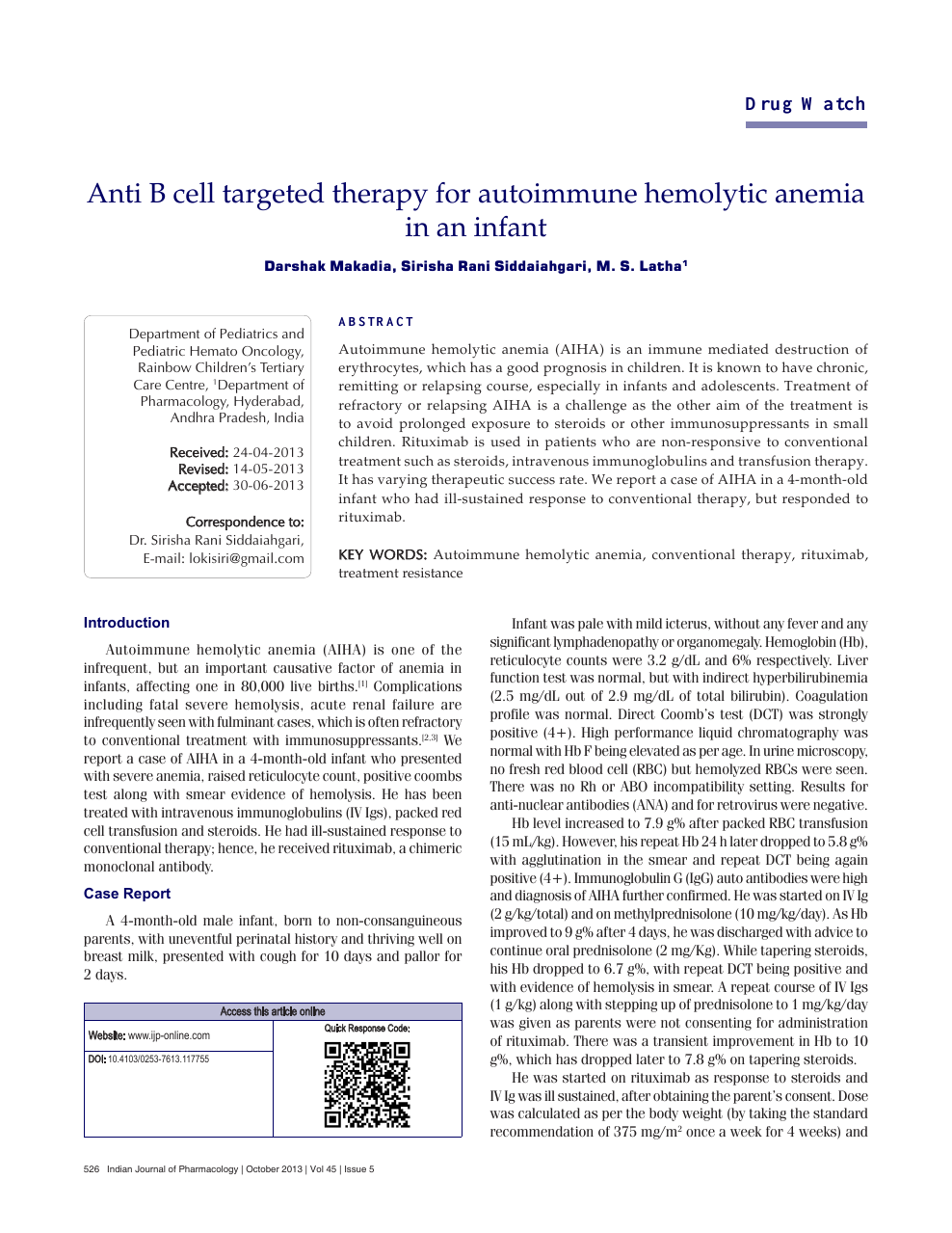 Anti B cell targeted therapy for autoimmune hemolytic anemia
