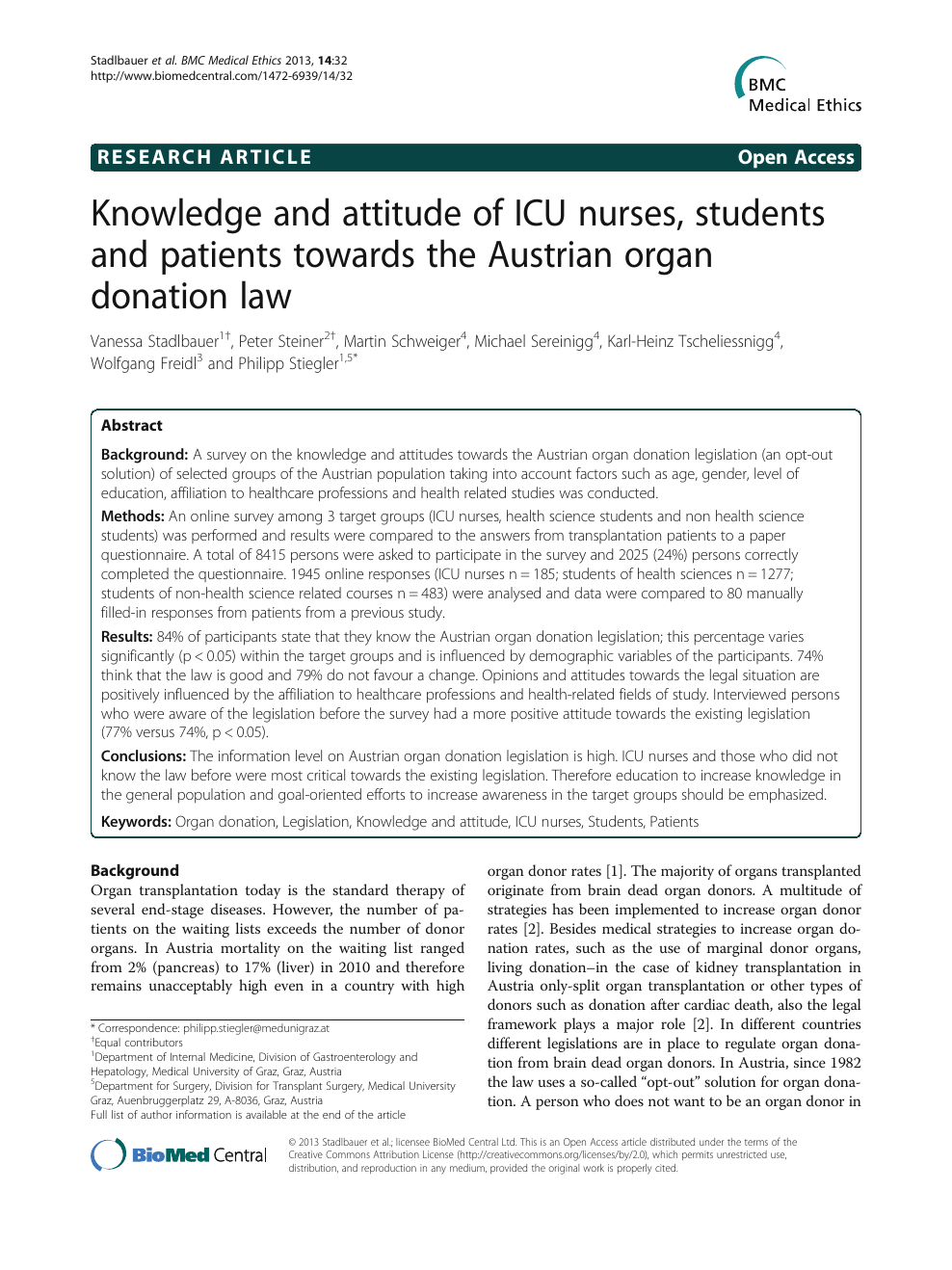 Knowledge and attitude of ICU nurses, students and patients