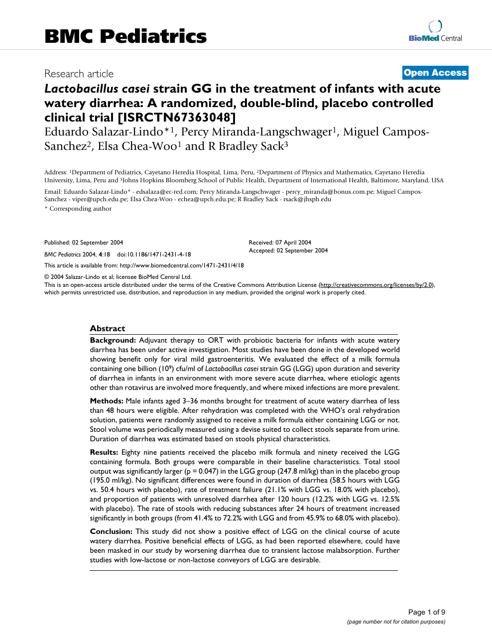 Lactobacillus caseistrain GG in the treatment of infants